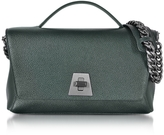Akris Bottle Green Cervocalf Anouk Day Bag w/Detachable Chain