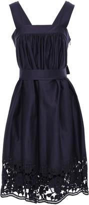 Kate Spade Lace-trimmed Stretch-cotton Poplin Mini Dress
