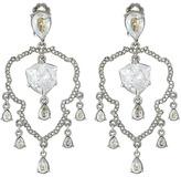 Oscar de la Renta Shield Crystal Chandelier C Earrings