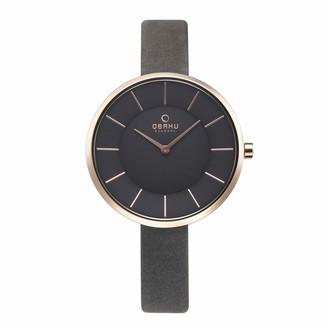 Obaku Women's Stainless Steel Analog-Quartz Watch with Leather Calfskin Strap