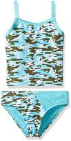 YMI Jeanswear Big Girls' Ms. America Two Piece Camouflage Tankini Swimsuit