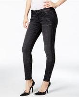 GUESS Marilyn Black Wash Zip-Cuff Skinny Jeans