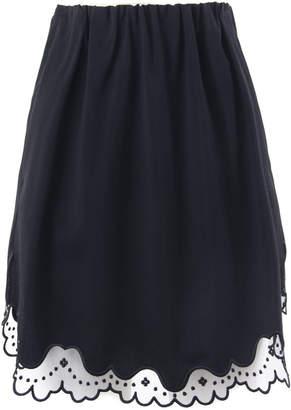N°21 N.21 Black Virgin Wool Mini Skirt