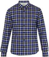 Acne Studios Isherwood point-collar checked cotton shirt