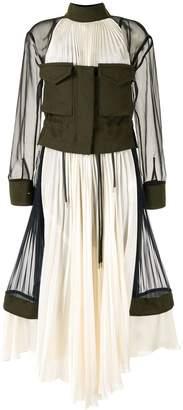 Sacai Colourblock Panelled Dress
