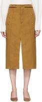Chloé Tan Utilitarian Slit Skirt