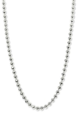 """Alex Woo Beaded 20"""" Chain Necklace in 14k White Gold"""