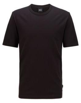 HUGO BOSS Crew Neck T Shirt In Cotton Piqu - Black