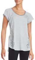 Nanette Lepore Laser Cut Heathered Top