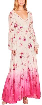 LoveShackFancy Zaria Beaded Silk Gown