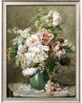 Art.com 'Still Life of Peonies and Roses' by Francois Rivoire Framed Painting Print
