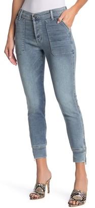 Fidelity Mikey Zip Hem Cropped Jeans