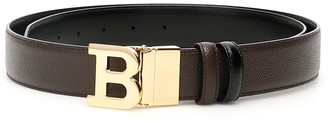 Bally Embossed B Buckle Belt