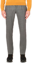 Hugo Boss Tailored-fit Tapered Wool Trousers