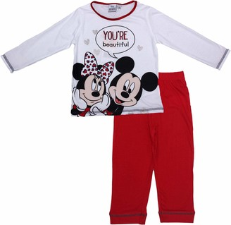 Disney Minnie and Mickey Your Beautiful Long Sleeve Pyjama Set White 4 Years- Spring Summer Collection
