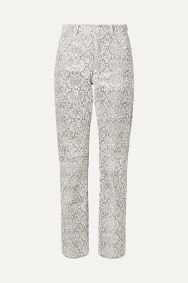 Georgia Alice Snake-effect Faux Leather Straight-leg Pants - Snake print