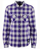 Levi's Women's Minnesota Vikings Plaid Button-Up Woven Shirt