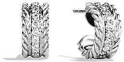 David Yurman Women's Cable Classics Extra-Small Earrings with Diamonds