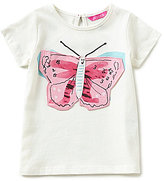 Joules Baby/Little Girls 12 Months-3T Lark Butterfly-Applique Tee