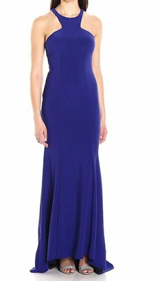 Xscape Evenings Women's Long Cutout Halter Neck Gown