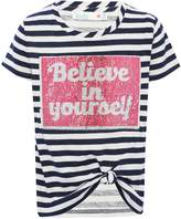 M&Co Two way sequin stripe t-shirt