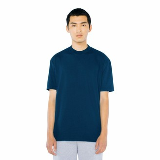 American Apparel Men's Power Wash Mockneck Short Sleeve T-Shirt