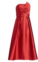 Theia Strapless Fit-&-Flare Dress
