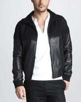 Alexander McQueen Leather/Cashmere Jacket