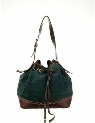 Marc Jacobs Suede Bucket Bag Green