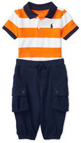 Ralph Lauren Childrenswear Atlantic Terry Polo Shirt and Jogger Pants Set