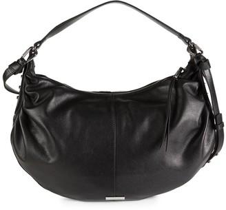 Vince Camuto Top-Zip Leather Hobo Bag