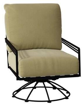 Caruso Woodard Madison Swivel Lounge Rocking Chair Woodard Cushion Color Parakeet, Frame Color: Textured Black