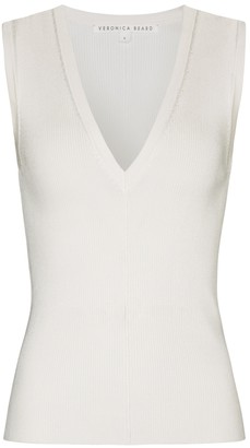 Veronica Beard Brie ribbed knit vest
