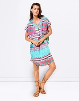 Seafolly Embellished Print Cover Up