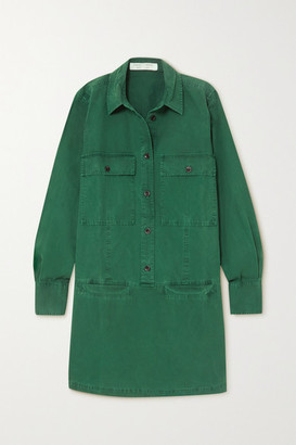 Proenza Schouler White Label Washed Cotton-canvas Shirt Dress - Green