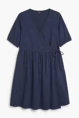 Monki Denim wrap dress