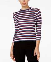 Kensie Striped Mock-Neck Top
