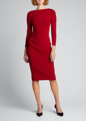 Giorgio Armani Ruched Matte Jersey Sheath Dress