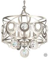 Schonbek Gwynn 5-Light Chandelier in White With Clear Heritage Crystal