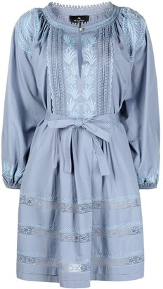 Etro Prairie Puffed-Sleeve Cotton Dress