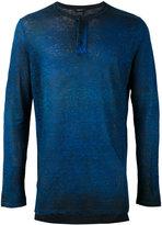 Avant Toi melange effect print T-shirt - men - Linen/Flax - M