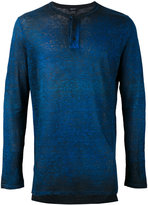 Avant Toi melange effect print T-shirt - men - Linen/Flax - S