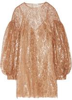 Zimmermann Lavish Metallic Lace Mini Dress