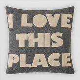 Alexandra Ferguson I Love This Place Felt Decorative Pillow, 16 x 16