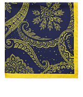 Barneys New York MEN'S PAISLEY SILK POCKET SQUARE