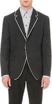 Alexander McQueen Contrast-edge wool blazer
