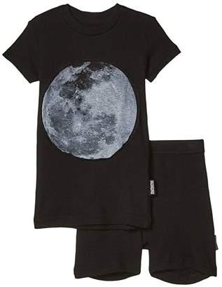 Nununu Full Moon Loungewear (Infant/Toddler/Little Kids) (Black) Boy's Active Sets