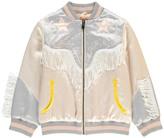 Stella McCartney Dot Star Fringe Bomber Jacket Pale pink