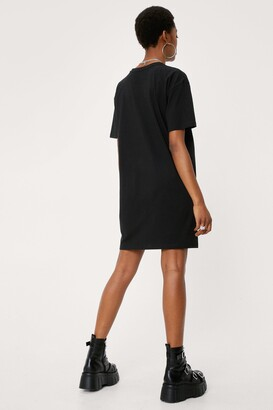 Nasty Gal Womens Kiss Animalize T-shirt Dress - Black - 4