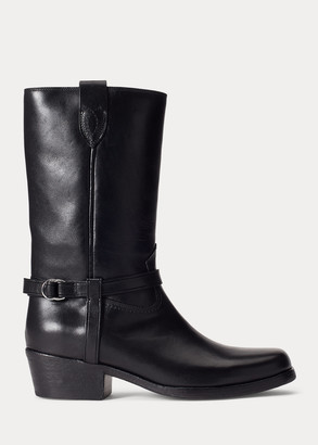 Ralph Lauren Harness Leather Boot